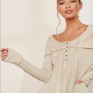 NWT Free People Down Under Henley